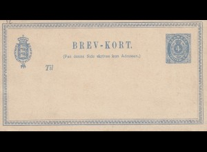 Danmark; Ganzsache: Berv-Kort. Bestellkarte: Tuborg, Export, Lager, Bitter, ...