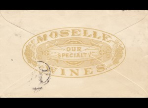 USA: Ganzsache: New York 1893: Moselle-Wines