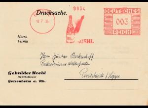 Geisenheim/Eltville 1935: Freistempel: Sektkellerei