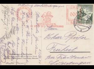 Ansichtskarte Rothenburg ob der Tauber: Freistempel 1938: Meistertrunks