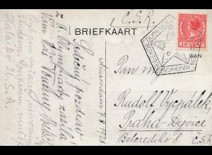 Olympiade 1928: Niederlande nach Prag-Ansichtskarte