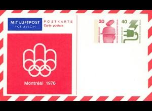Olympische Spiele Montreal 1976: Philatelie Ausstellung Ganzsache