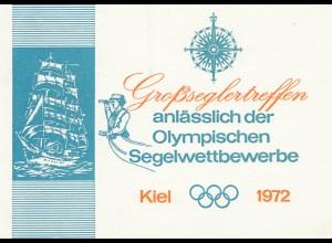 Olympische Spiele Kiel 1972: Großseglertreffen - boot 1973-Ganzsache