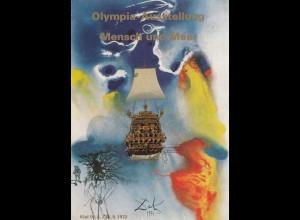 Olympische Spiele 1972 Kiel: Ausstellung Mensch und Meer Ganzsache