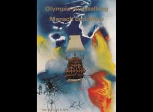 Olympische Spiele Kiel 1972: Ausstellung Mensch und Meer Ganzsache