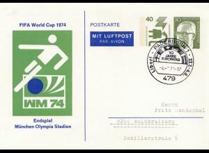 FIFA World Cup 1974 Endspiel Olympia Stadion München - Padorborn