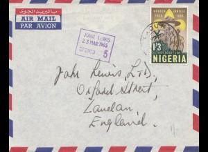 Nigeria: 1965: Boy Scout of Nigeria-John Lewis to England