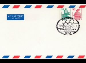 Leverkusen Philatelie 1976: Olympische Spiele Montreal, Ganzsache-Stempel