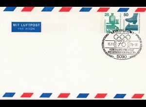 Olympische Spiele Montreal 1976: Ganzsache-Stempel Leverkusen Philatelie