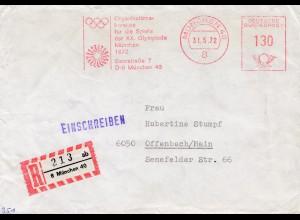 Olympiade München 1972: Organisationskomitee Freistempel