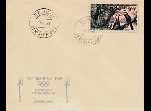 Olympiade München 1960: Zentralafrika Bangui - Französisch