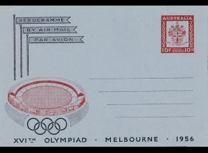 Australien: Ganzsache Olympiad Melbuourne 1956