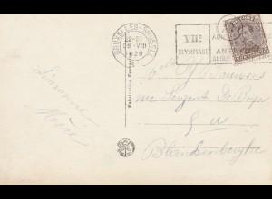 Belgien: 1920 - VII. Olympiade - Ansichtskarte Mädchen mit Blumen