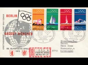 Olympiade München 1972: Berlin grüsst München nach Kitzingen