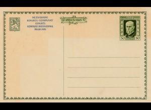 Prag 1925: Olympischer Kongress - Ganzsache - Tschecheslovakei