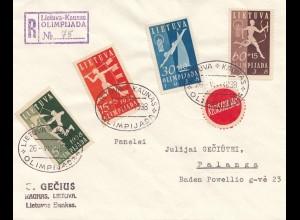 Olympia: 1938 Leituva-Kaunas-Olimpijada nach Palanga