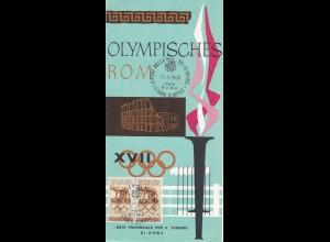 Olympia 1950: Deutscher Stadtplan Olymp. Rom 1950