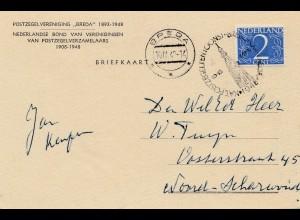 Pfadfinder/Boy Scout: Brebopost Breda 1948 Niederlande-Ansichtskarte