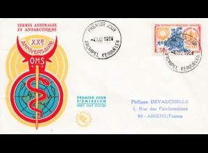 Frankreich 1968: Terres Australes et Antarctiques FDC