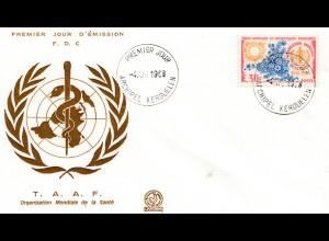 Frankreich 1968: Organisation Mondiale de la Sante FDC