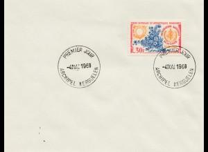 Frankreich Archipel Kerguelen FDC 1968