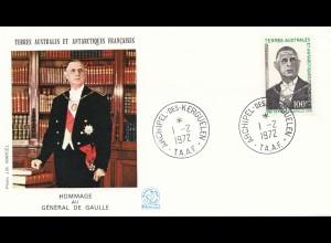 Frankreich 1972: Terres Australes et Antarctiques-Archipel Kerguelen - de Gaulle
