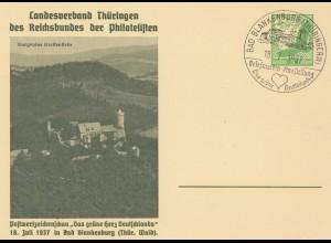Briefmarken Ausstellung: Bad Blankenburg 1937 - Thüringen