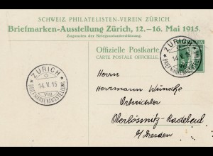 Schweiz: Zürich Briefmarken Ausstellung 1915