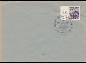 Österreich 1952: Jugend sammelt Briefmarken Wien
