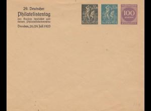 2x Ganzsachen Umschlag 1923 - Deutscher Philatelisten Tag