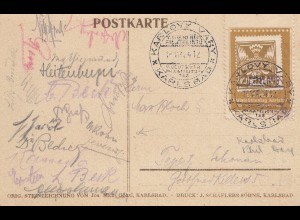 Gedenkkarte Deutscher Philatelistentag 1924 - Karsbad