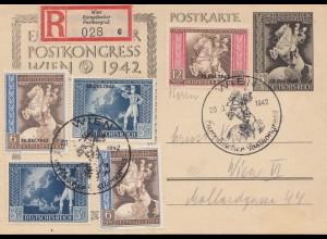 Einschreiben Wien Europäischer Postkongress 1942