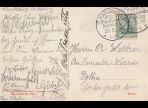 Karlsbad 1910: Ringtag und Deutscher Sammlertag - Ansichtskarte