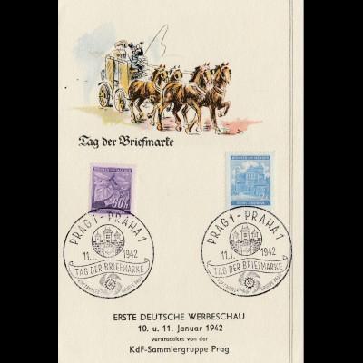 Gedenkblatt Tag der Briefmarke 1942 - Prag-Praha