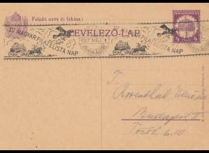 Ungarn: Ganzsache 1927: Magyar Filatelista NAP