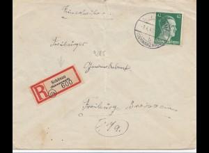 Schönau/Schwarzwald 3.4.1945 !!! nach Freiburg: SEHR SPÄT