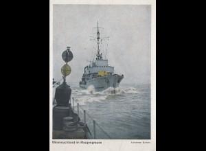 Minensuchboot im Morgengrauen