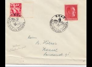 Brief mit Sonderstempel 1938 - Graz Geburtstag des Führers