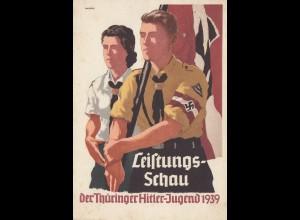 Propagandakarte: Leistungsschau Thüringer Hitler Jugend 1939 - Rudolstadt