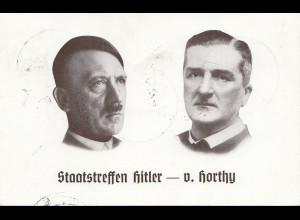 Propagandakarte: Staatstreffen Hitler-v. Horthy