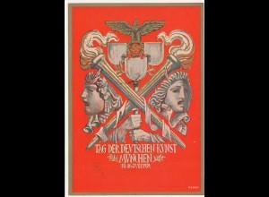 Propagandakarte: Tag der deutschen Kunst 1939 - Ganzsache