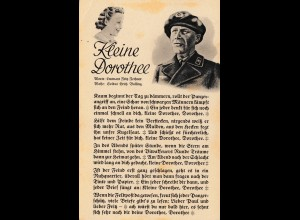 Propagandakarte: Panzerfahrer: Lied: Kleine Dorothee