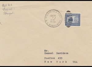 US-Germany Sea Post S.S. Washington 1938