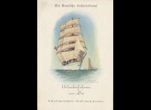 Wilhelm Gustloff: DAF-Deutsche Arbeitsfront-Urlaubsfahrten zur See - KdF 1938