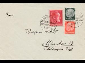 1938 Deutsche Seepost-Mittelmeerfahrt nach München: General von Steuben