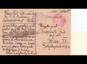 Marine-Feldpost: 1916: nach Wien: S.M.S. Bellona-Schiffszensur