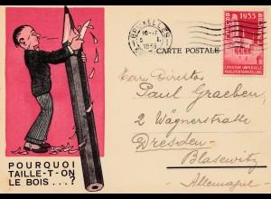 1935: Bruxelles: Ausstellung: Bleistiftwerbung
