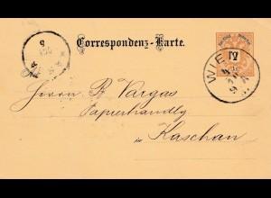 1887: Wien nach Kaschan: Kugelspitzenfedern