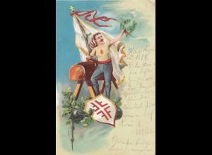 1904: Ansichtskarte Sport-Turnen-von Basel nach Northeim
