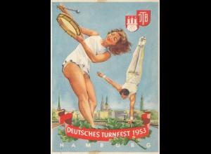 1953: Deutsches Turnfest- Ansichtskarte - Hamburg
